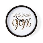 we the people 99% vintage Wall Clock