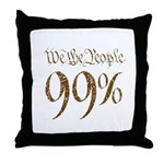 we the people 99% vintage Throw Pillow