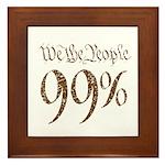 we the people 99% vintage Framed Tile