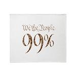 we the people 99% vintage Throw Blanket