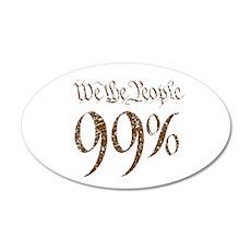 we the people 99% vintage 22x14 Oval Wall Peel