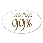 we the people 99% vintage Sticker (Oval 10 pk)