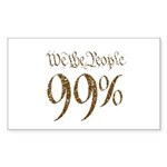 we the people 99% vintage Sticker (Rectangle 10 pk