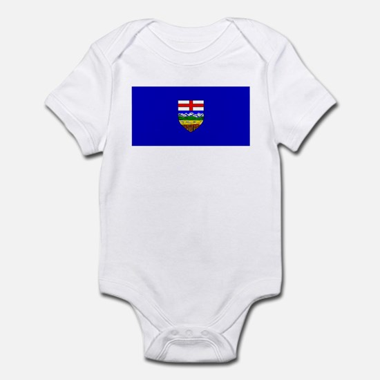 Alberta Albertan Blank Flag Infant Creeper