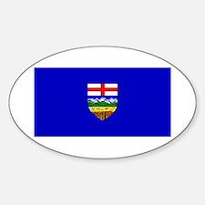 Alberta Albertan Blank Flag Oval Decal