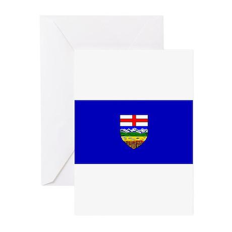Alberta Albertan Blank Flag Greeting Cards (Packag