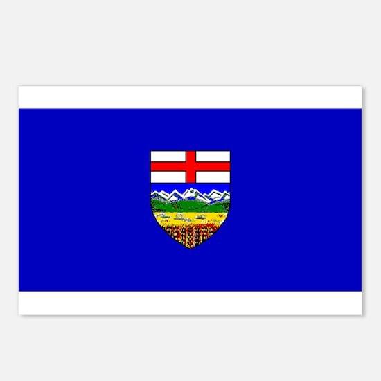 Alberta Albertan Blank Flag Postcards (Package of