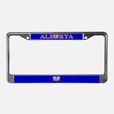 Alberta Albertan Blank Flag License Plate Frame