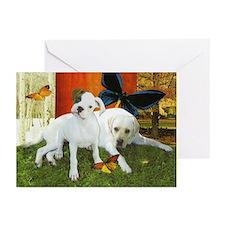 Boxer & Labrador Retriever Greeting Cards (10 Pk)