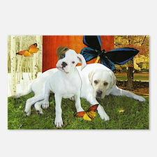 Boxer & Labrador Retriever Postcards (8 pack)
