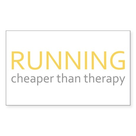 Running - Cheaper Than Therap Sticker (Rectangle)
