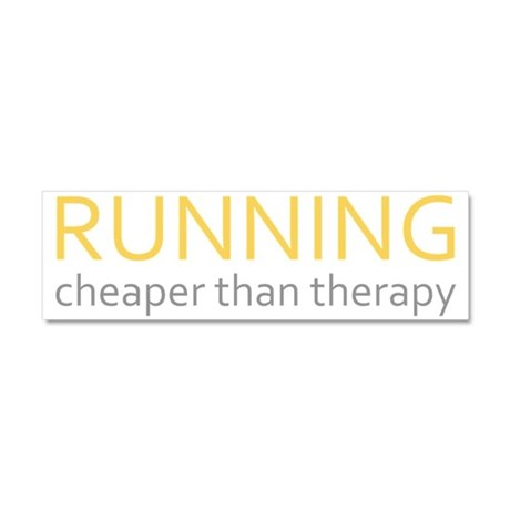 Running - Cheaper Than Therap Car Magnet 10 x 3