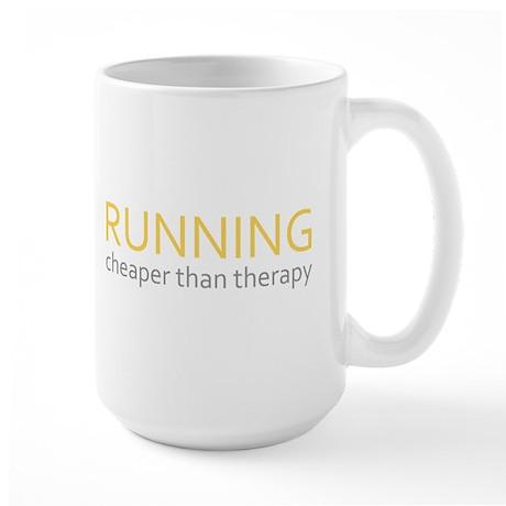 Running - Cheaper Than Therap Large Mug