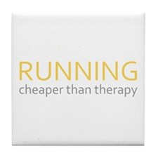 Running - Cheaper Than Therap Tile Coaster