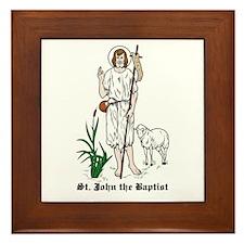 St. John the Baptist Framed Tile