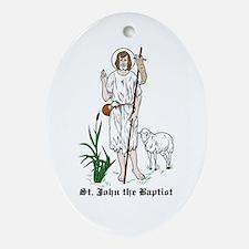 St. John the Baptist Oval Ornament