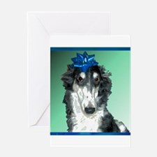 Insulted Borzoi Greeting Card