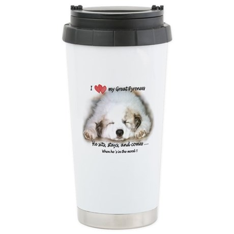 Great Pyrenees Stainless Steel Travel Mug, Pyrenee