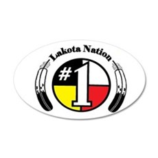 #1 Lakota Nation 22x14 Oval Wall Peel