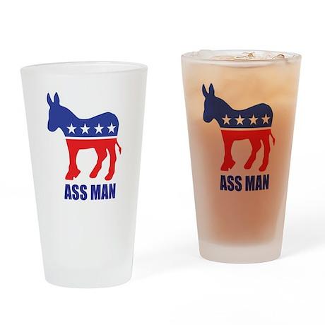 Ass Man Drinking Glass
