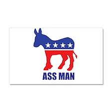 Ass Man Car Magnet 20 x 12
