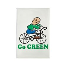 Go Green Rectangle Magnet