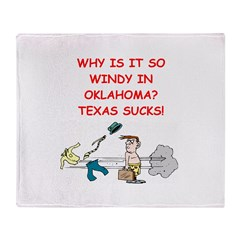 i hate texas Throw Blanket