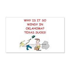i hate texas 22x14 Wall Peel