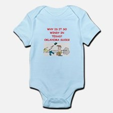 i hate oklahoma Infant Bodysuit
