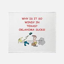 i hate oklahoma Throw Blanket