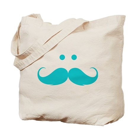 Moustache face Tote Bag