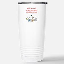 i hate michigan Stainless Steel Travel Mug