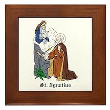 St. Ignatius Framed Tile