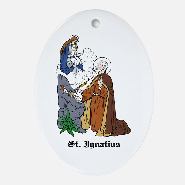 St. Ignatius Oval Ornament