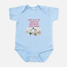 i hate ohio Infant Bodysuit
