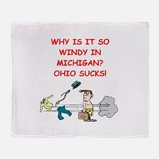 i hate ohio Throw Blanket