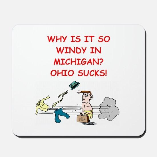i hate ohio Mousepad