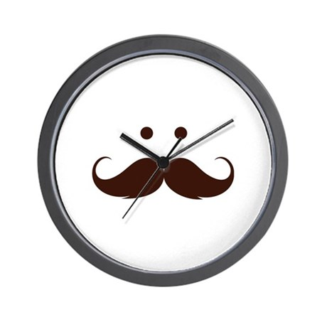 Moustache face Wall Clock