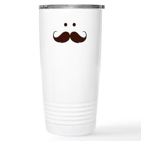 Moustache face Stainless Steel Travel Mug