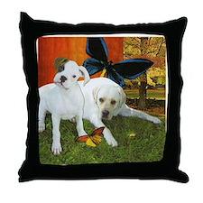 Boxer and Labrador Retriever Throw Pillow