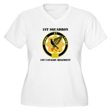 DUI - 1st Sqdrn - 1st Cav Regt with Text T-Shirt