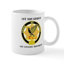 DUI - 1st Sqdrn - 1st Cav Regt with Text Mug
