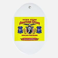 American Citizen Cigar Label Ornament (Oval)