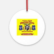 American Citizen Cigar Label Ornament (Round)