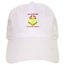 DUI - 1st Bn - 6th Infantry Regt with Text Baseball Cap