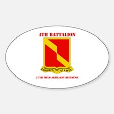 DUI - 4th Bn - 27th FA Regt with Text Decal