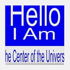 center of universe Tile Coaster