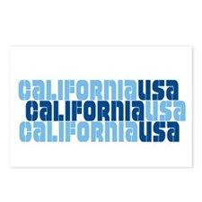 CALIFORNIA USA Postcards (Package of 8)