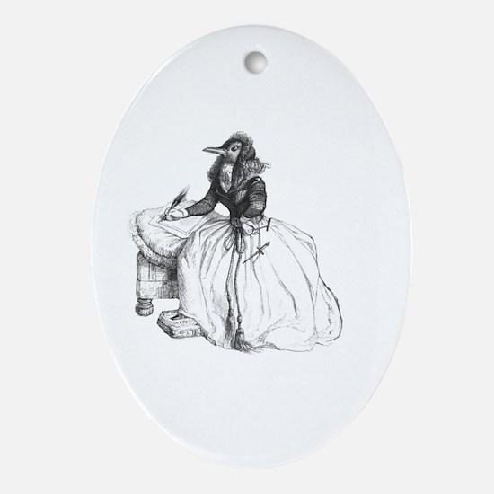 Mademoiselle Bird Ornament (Oval)