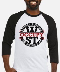 Occupy Wall Street People Rule Baseball Jersey